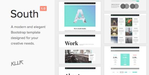 South - Creative HTML5 Template - Creative Site Templates