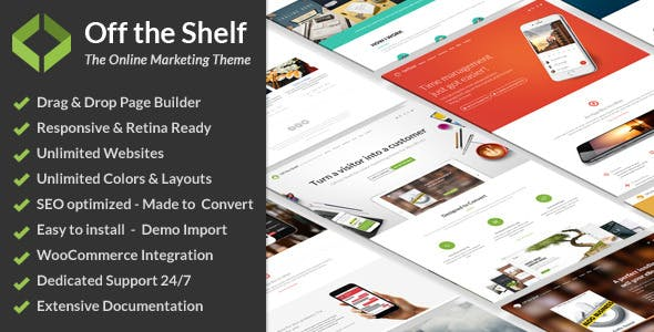 Off the Shelf - Online Marketing WordPress Theme
