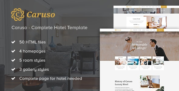 Caruso - Complete Hotel Booking Template - Travel Retail