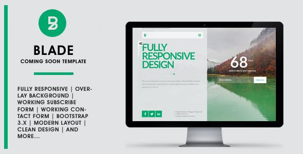 BLADE - Responsive Coming Soon Template