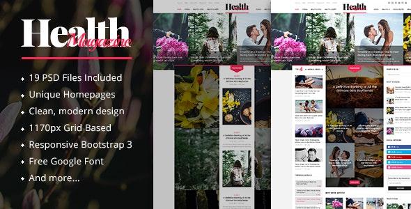 HealthMag - News & Magazine PSD Template - Creative Photoshop