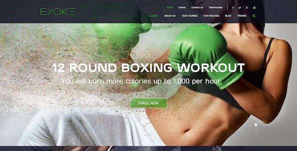 Eyoke - Fitness Onepage PSD Template