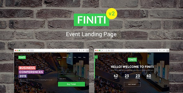 Finiti | Event Landing Page - Events Entertainment