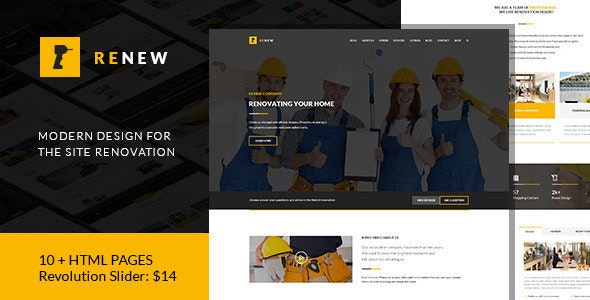 Renew - Renovation, Repair & Construction HTML - Business Corporate