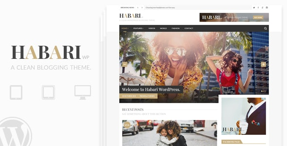 Habari - A Responsive WordPress Blog Theme - Personal Blog / Magazine