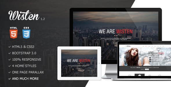 Wisten - One Page Parallax Theme by GoldEyes
