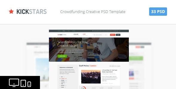 Kickstars - Crowdfunding PSD Template - Miscellaneous Photoshop