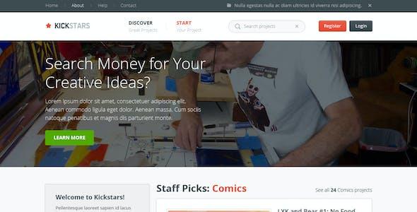 Kickstars - Crowdfunding PSD Template