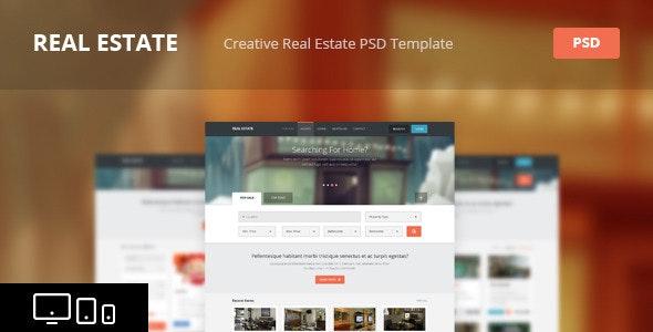 Real Estate - Creative PSD Template - Retail Photoshop