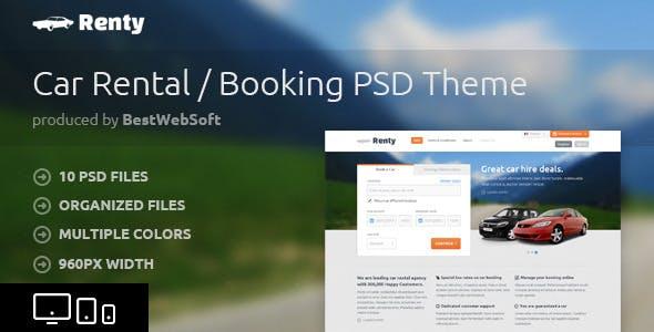 Y Car Al Booking Psd Template