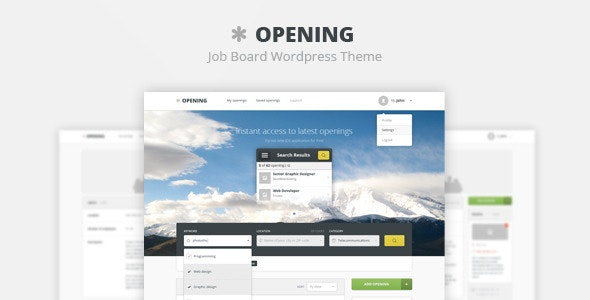 Opening - Job Board PSD Template - Photoshop UI Templates