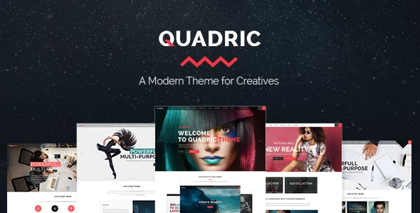 Quadric - Modern Creative Agency Theme - Creative WordPress