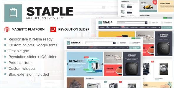 Staple - responsive magento theme