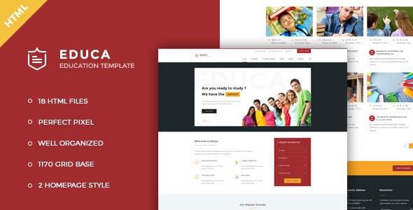Educa - Education & Courses HTML Template