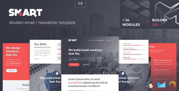 Smart - Modern Email Template + Builder 2.0 - Email Templates Marketing