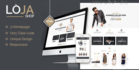 Loja - Responsive Template Theme  - Retail Site Templates