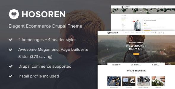 Hosoren - Elegant Ecommerce Drupal Theme - Shopping Retail