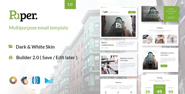 Paper - Multipurpose Email Template + Builder 2.0 - Email Templates Marketing