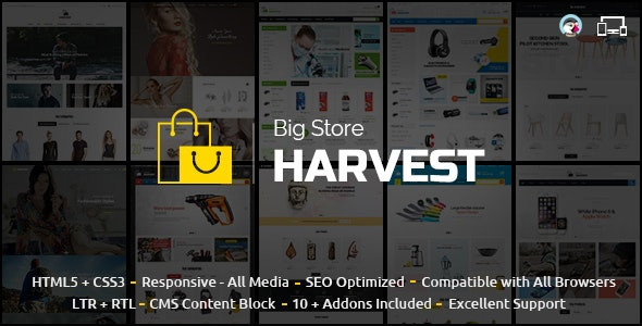 Harvest - Multipurpose Prestashop Theme - Shopping PrestaShop
