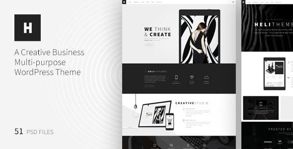 Heli - A Creative Multipurpose PSD Template - Creative Photoshop