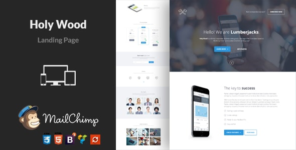 Holy Wood WordPress Theme - Marketing Corporate