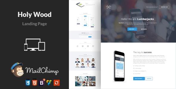 Onepage Landing Page WordPress Theme - Holy Wood - Marketing Corporate
