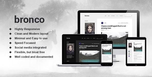 Bronco - Elegant Blogging Theme for WordPress - Personal Blog / Magazine