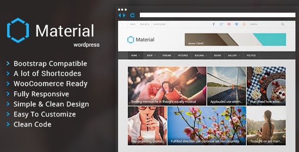 Material - Premium Magazine WordPress Theme - News / Editorial Blog / Magazine