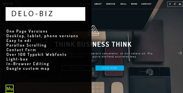 DELO - Muse Business Template - Corporate Muse Templates