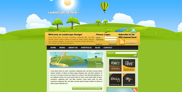 Landscape Design Drawn styled XHTML & CSS Template - Creative Site Templates