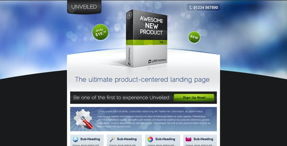 Unveiled - Ultimate Product Focused Landing Page