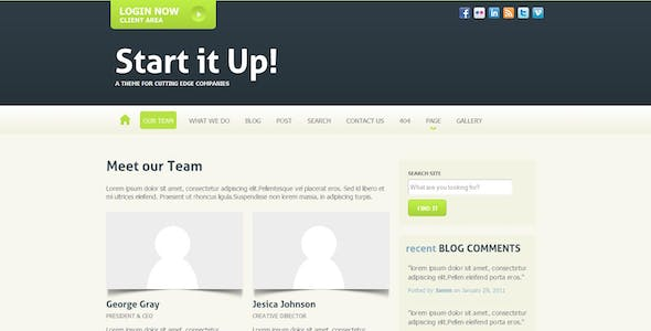 Start it Up! Theme for Small Businesses