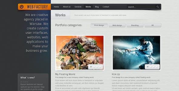 Factory 3D Website Template from ThemeForest