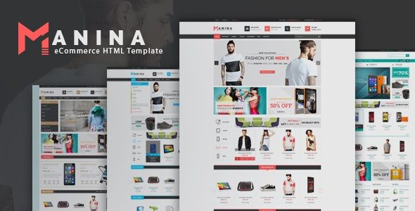 Manina - Electronics Fashion Store eCommerce HTML Template - Shopping Retail