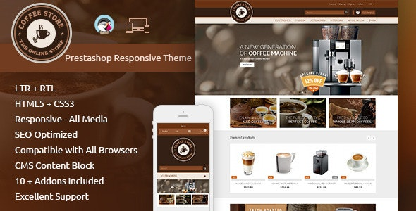 Coffee - Prestashop Responsive Theme - Health & Beauty PrestaShop