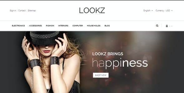 Lookz - Prestashop Parallax Template