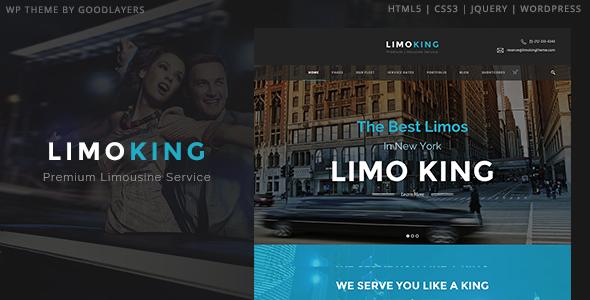 Limo King - Limousine / Transport / Car Hire Theme - Entertainment WordPress