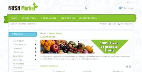 Fresh Market - Prestashop Responsive Theme