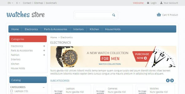 Watches Store - Prestashop Responsive Theme