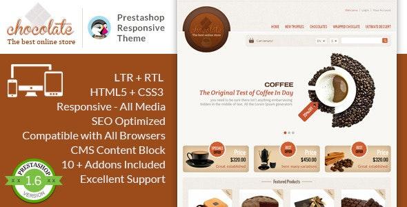 Chocolate - Prestashop Responsive Theme - PrestaShop eCommerce