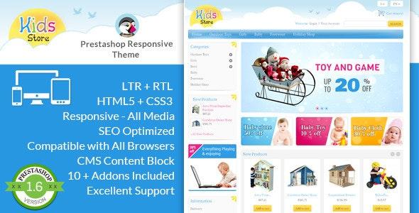 Kids Store - Prestashop Responsive Theme - PrestaShop eCommerce
