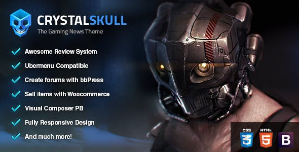 CrystalSkull - Gaming Magazine WordPress Theme