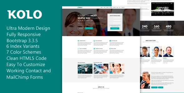 Kolo - Premium Startup Landing Page - Landing Pages Marketing