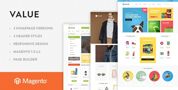 Ves Valuestore Pages Builder Responsive Theme - Shopping Magento