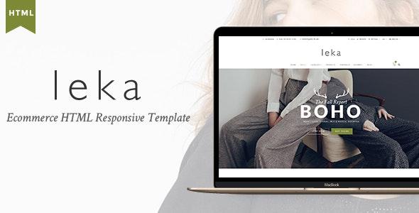 Leka - Ecommerce HTML Responsive Template - Fashion Retail