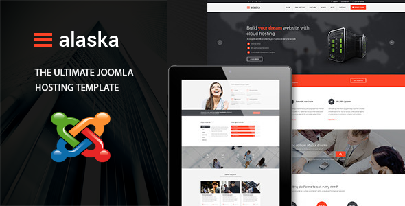 ALASKA Responsive Multi-Purpose Hosting Template - Corporate Joomla