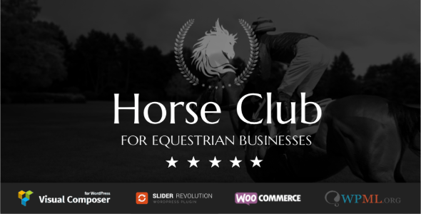Horse Club - Equestrian WordPress Theme - Business Corporate