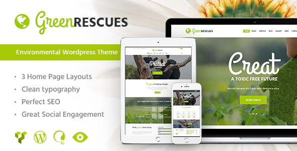 Green Rescues – Environment Protection WordPress Theme