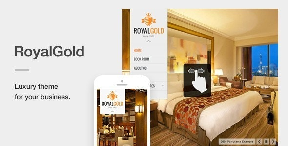 RoyalGold - A Luxury & Responsive Hotel or Resort Theme For WordPress - Travel Retail