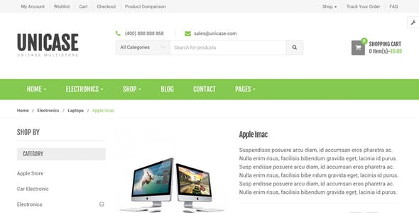 Unicase - Electronics Store WooCommerce Theme